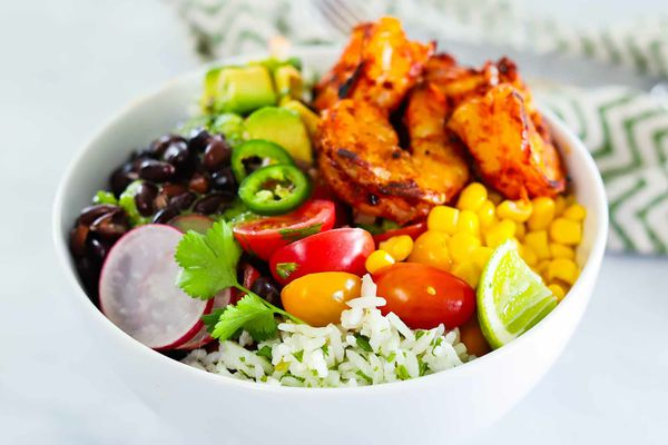 Taco Bowls Recipe with Grilled Shrimp