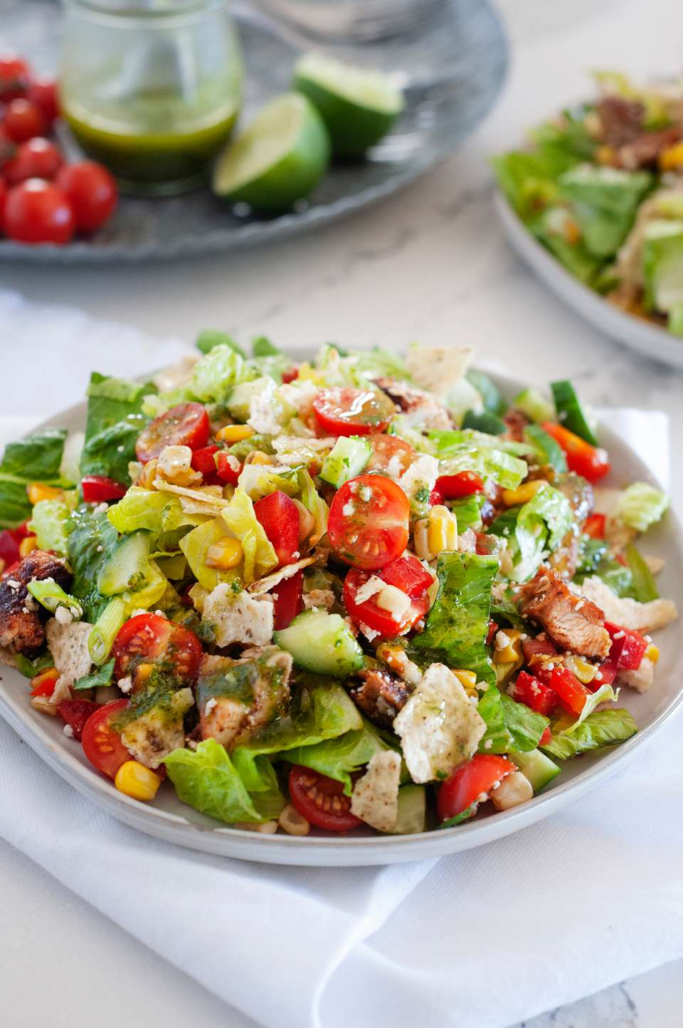 Southwestern Chopped Chicken Salad with Cilantro Lime Dressing