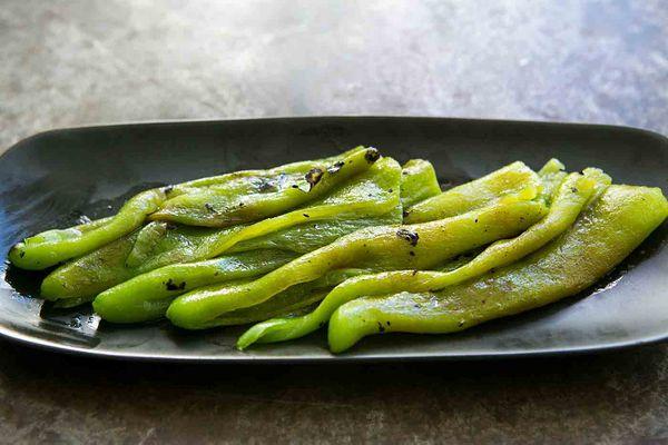 Roasted Green Chiles in Vinaigrette