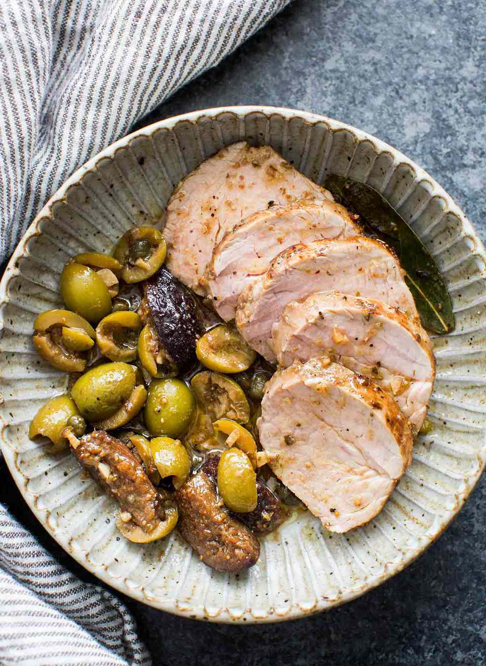 Pork Tenderloin with Figs and Olives