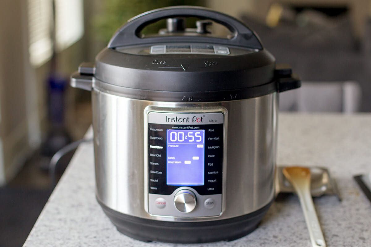 Cook the pot roast in the instant pot