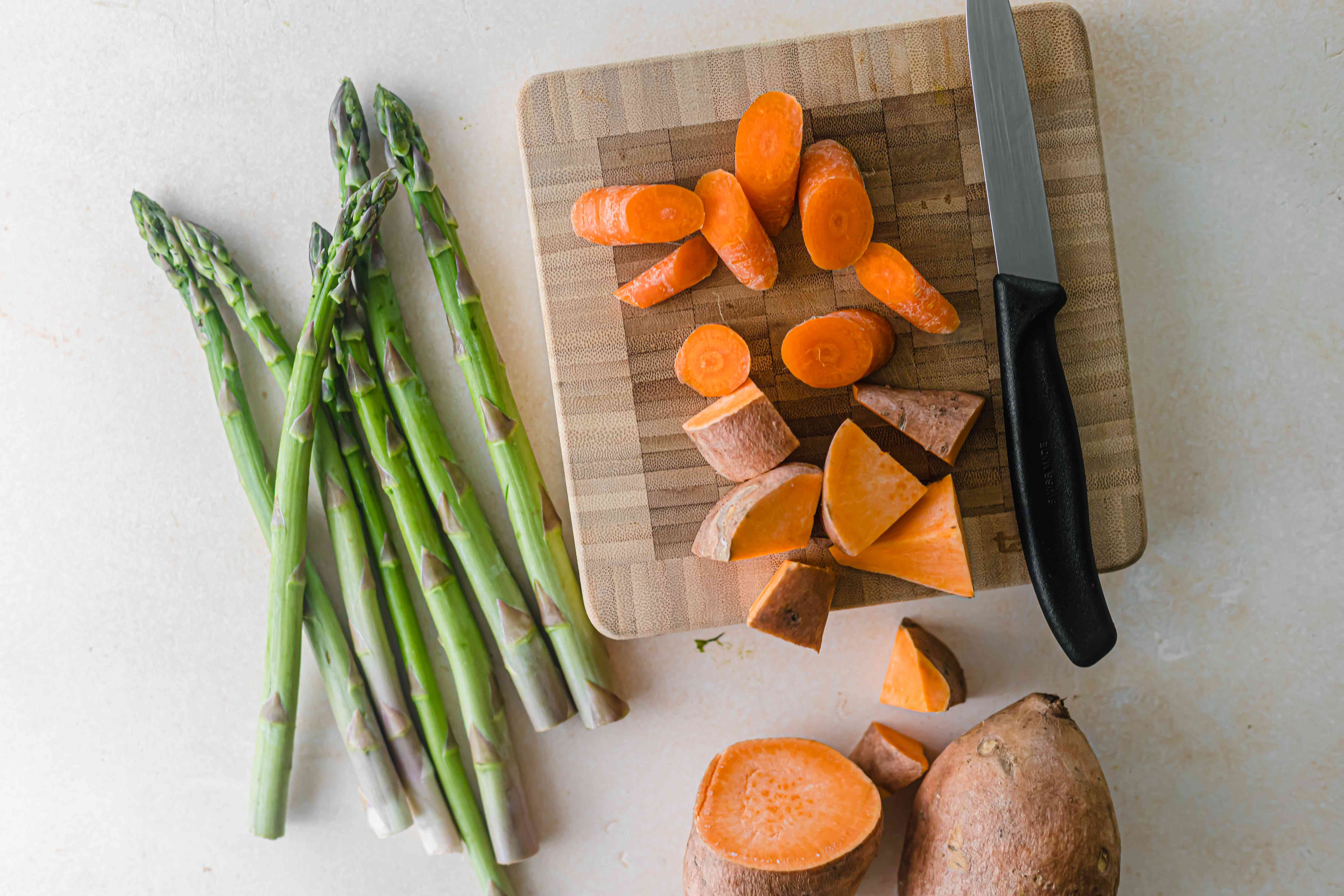 Chopped vegetables for how to roast any vegetable