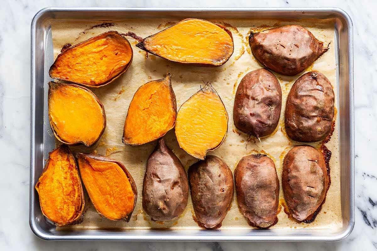 Traditional Sweet Potato Casserole roast the sweet potatoes