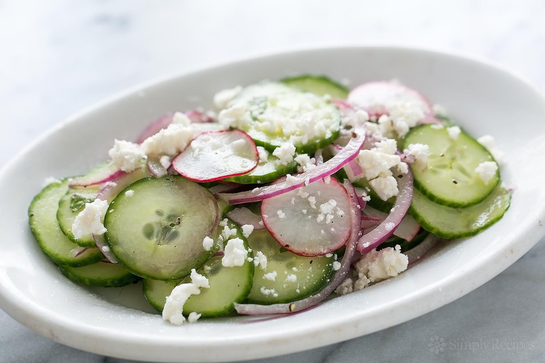 Cucumber Mint Feta Salad