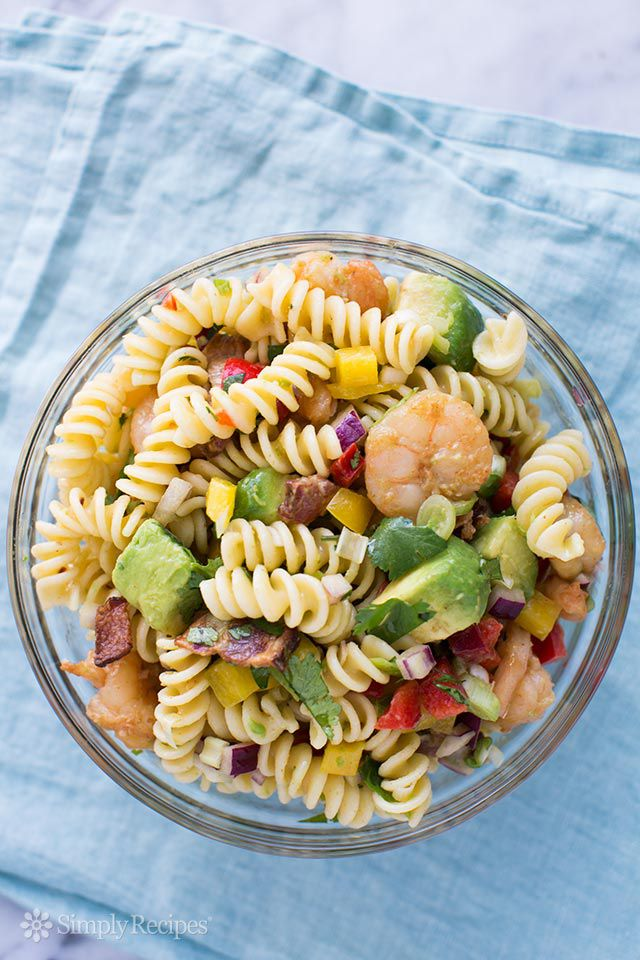 Shrimp Bacon Avocado Pasta Salad