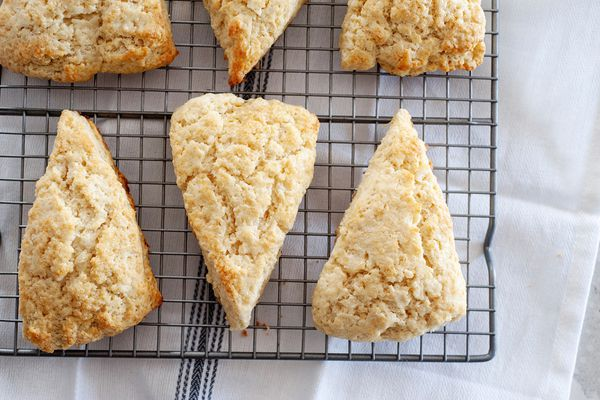 American-Style Scones cooling on a rack.