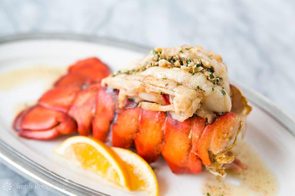 Broiled Lobster Tail With Brown Sauce