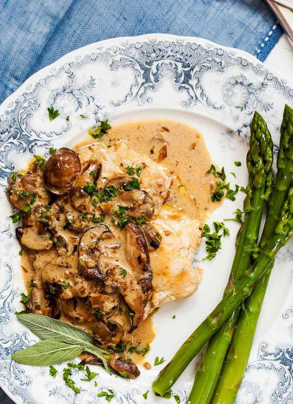 Chicken with Mushroom Sage Sauce