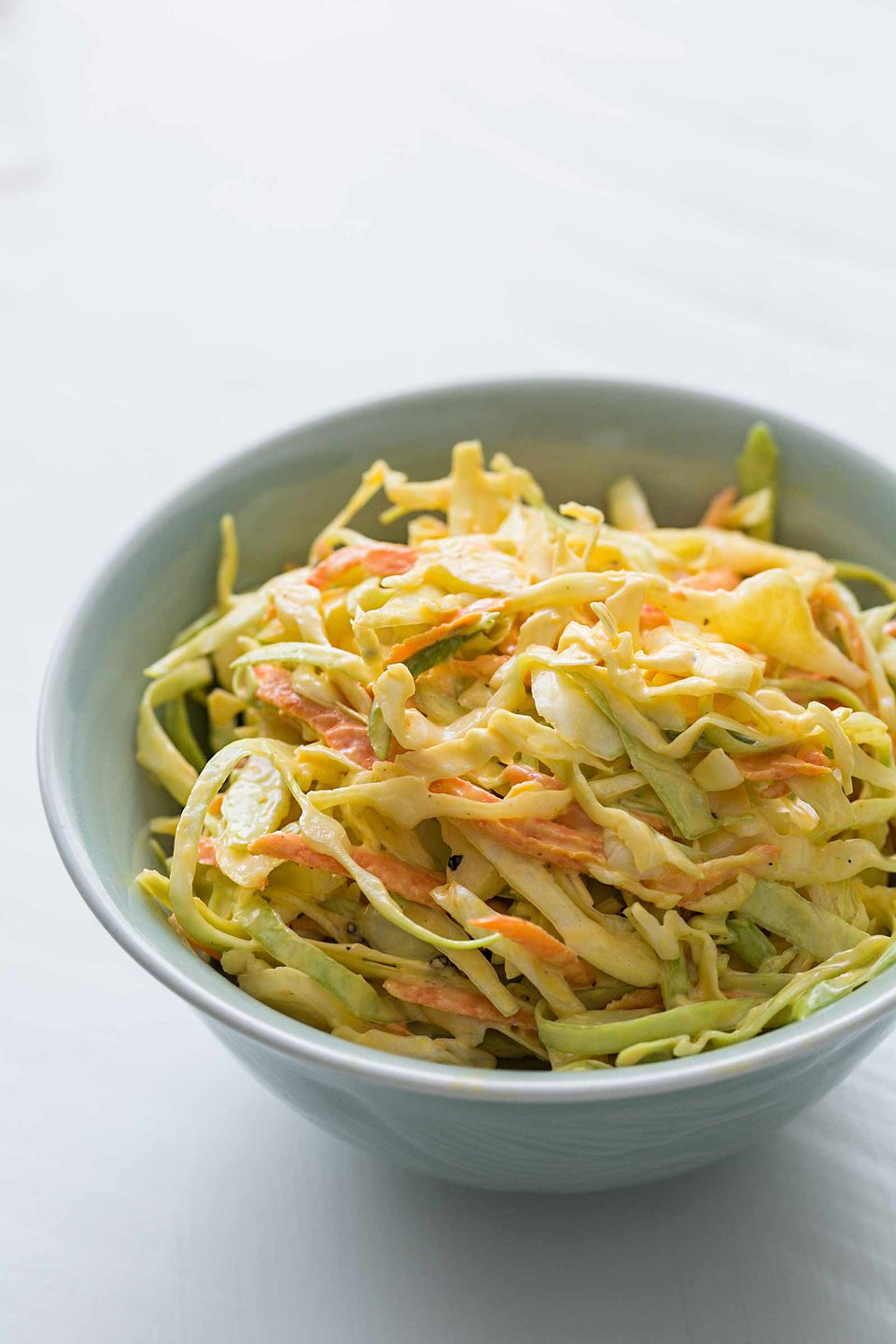 Easy Coleslaw with Mayo Coleslaw Dressing in a serving bowl