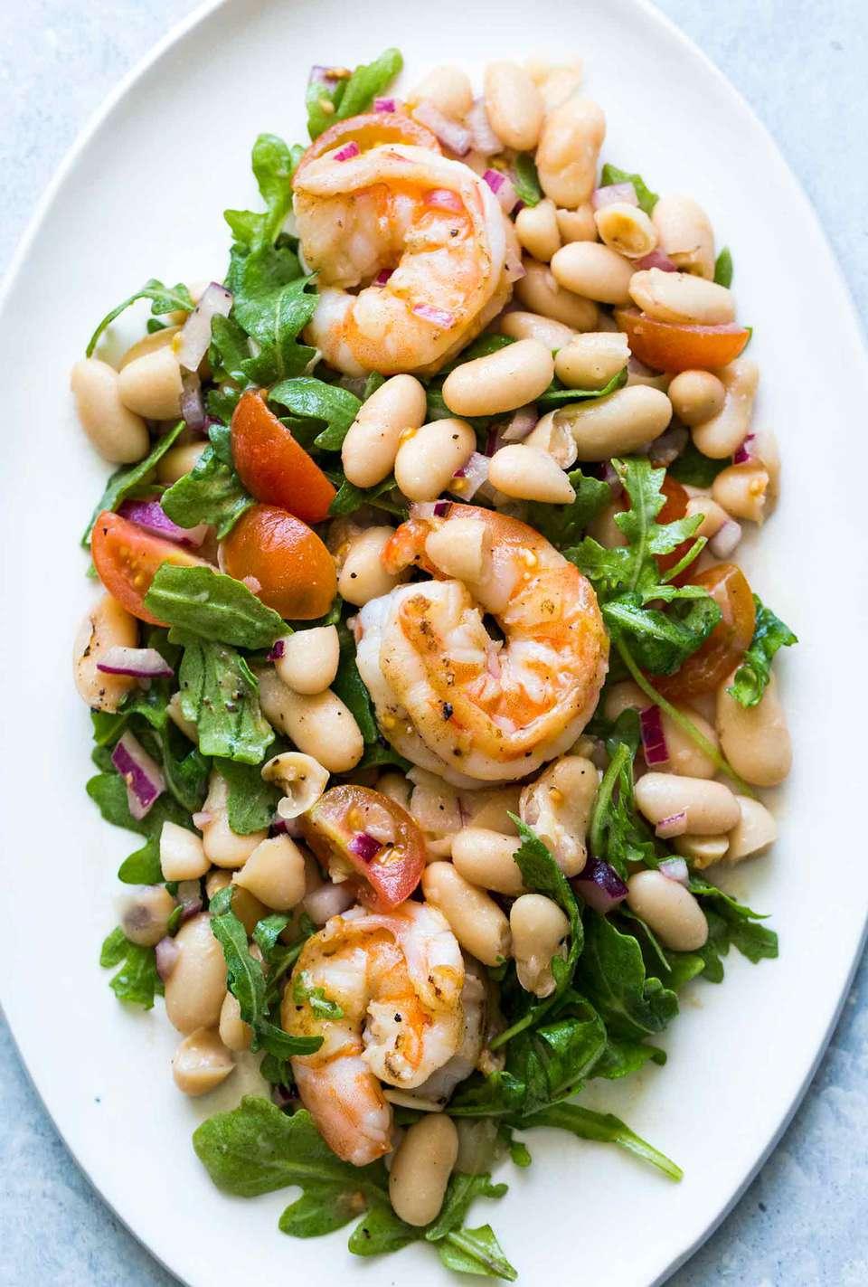 Shrimp Arugula White Bean Salad