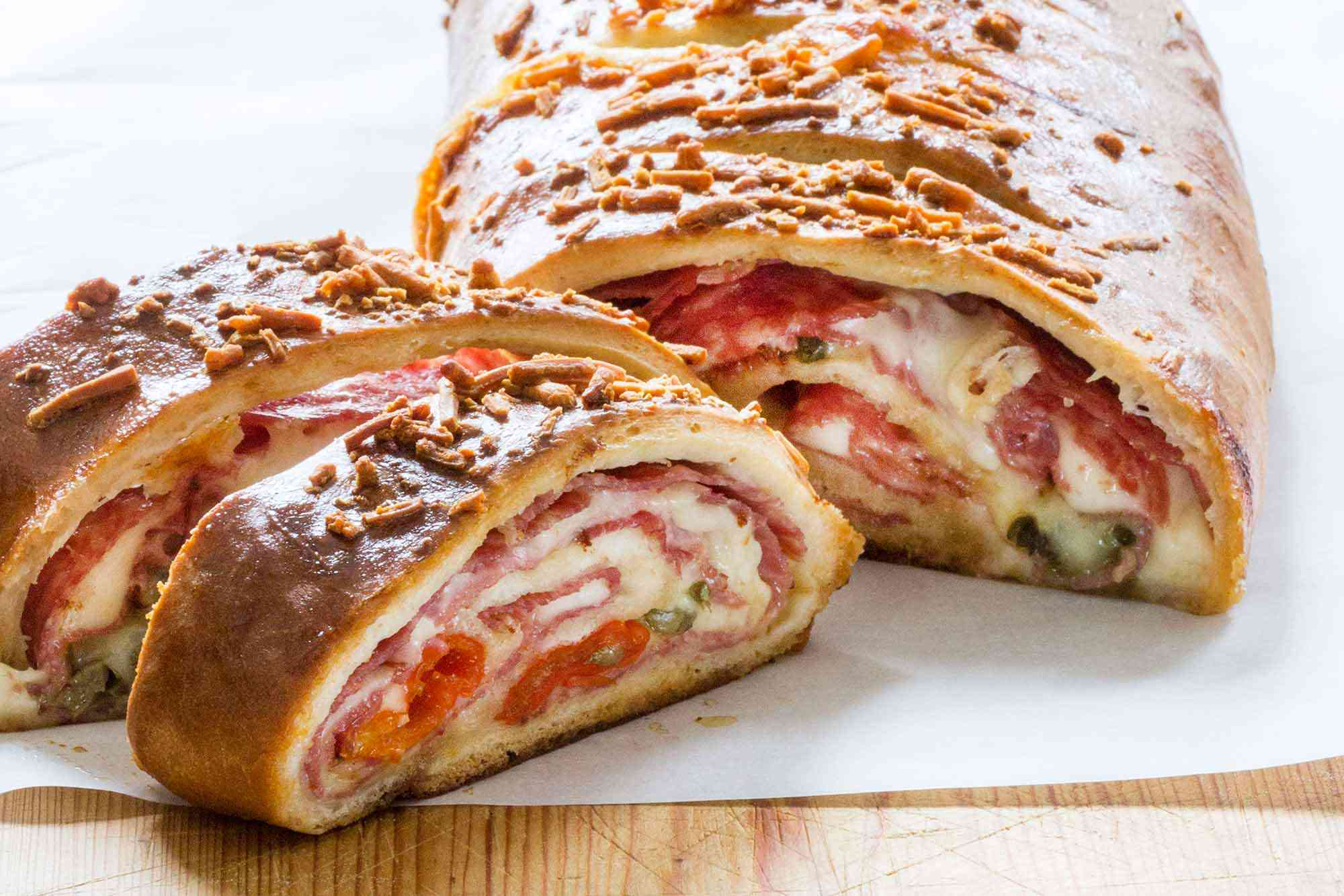 Meat and Cheese Stuffed Stromboli