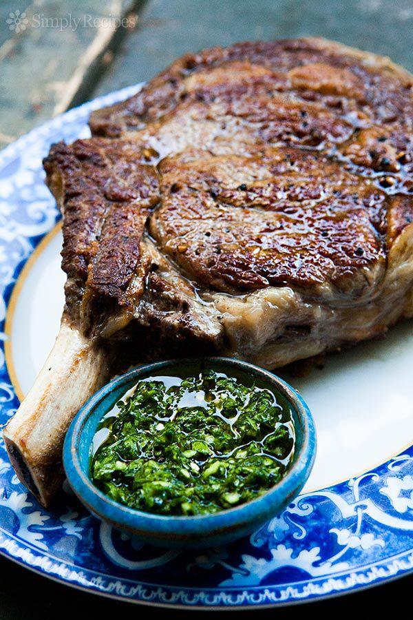 Cowboy Steak with Chimichurri