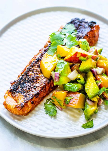 Grilled Salmon With Peach Salsa Recipe