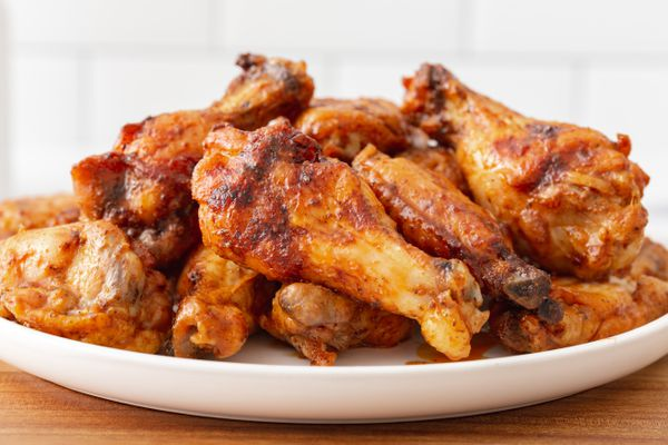 A plate of grilled wings.