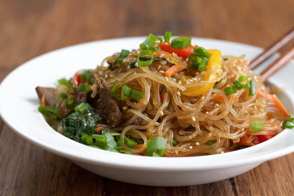 Japchae Korean Stir fried Noodles