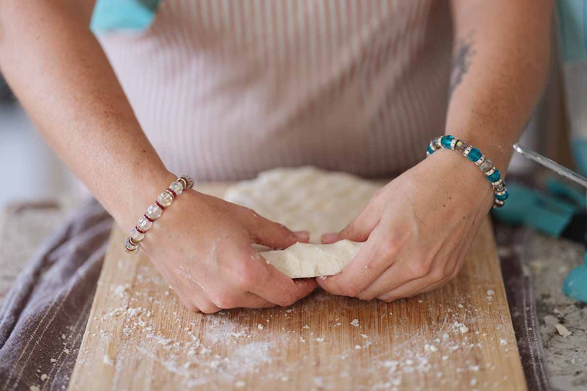 Gluten Free Buttermilk Biscuits Recipe fold the dough