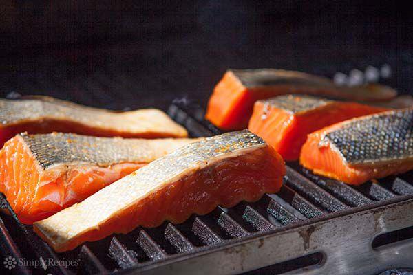 seasoned grill on grill
