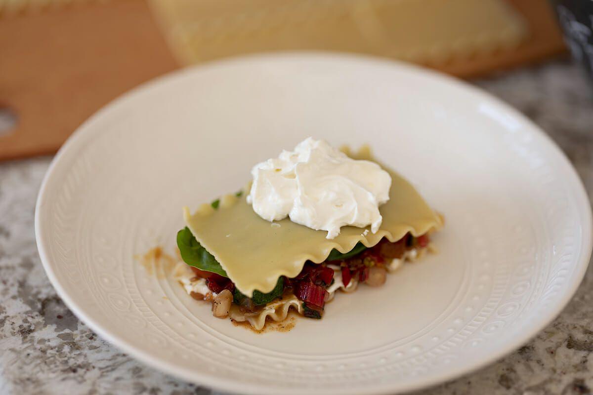 Summer lasagna recipe add cheese