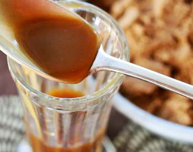A spoonful of butterscotch