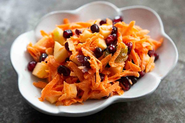 jeweled carrot salad with pomegranate