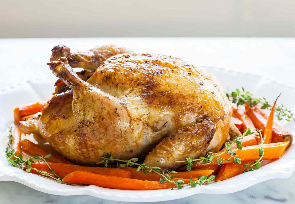 Roast Chicken with Carrots