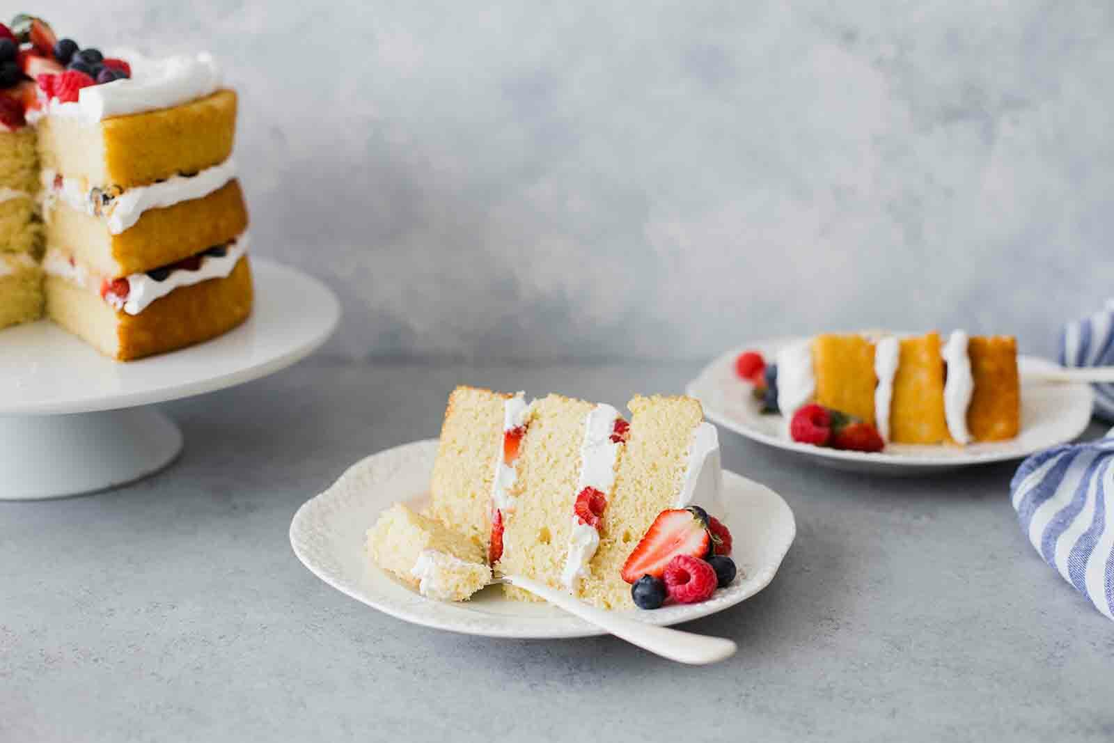 Vanilla Cake Recipe serve the cake
