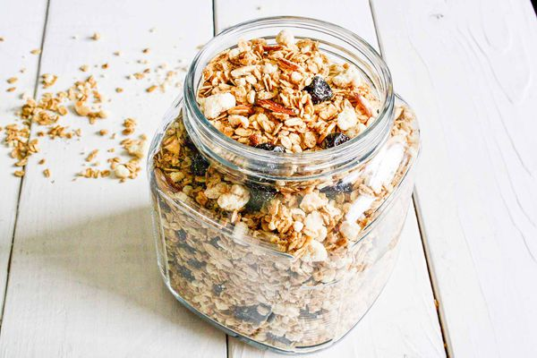 Homemade Granola with Cherries and Almonds