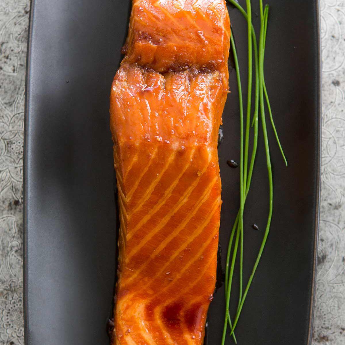 Sake Ginger Glazed Salmon