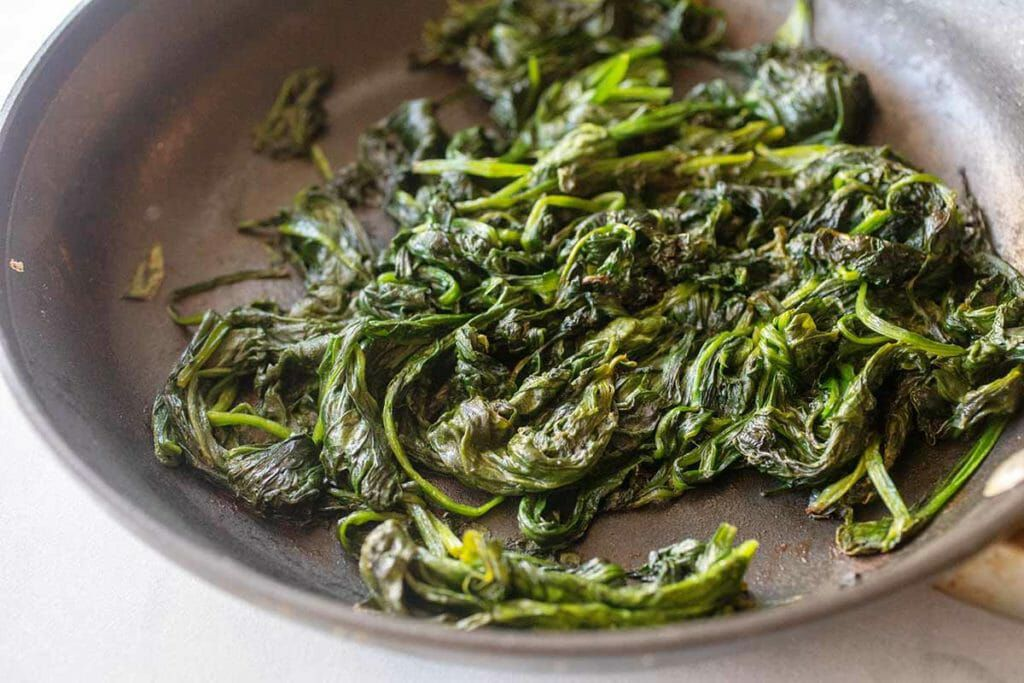Wilted spinach for crockpot spinach feta dip