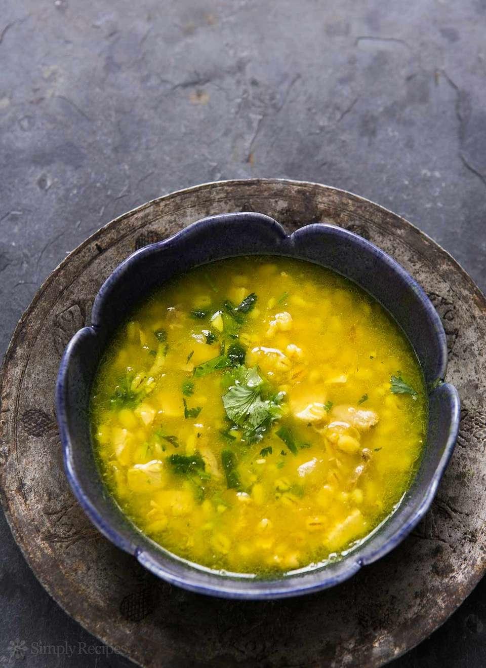 Turkey Soup with Lemon and Barley