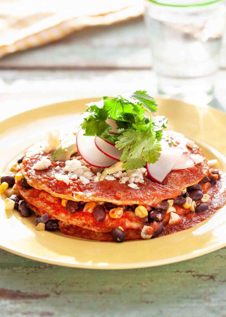 Vegetarian Enchilada Stack