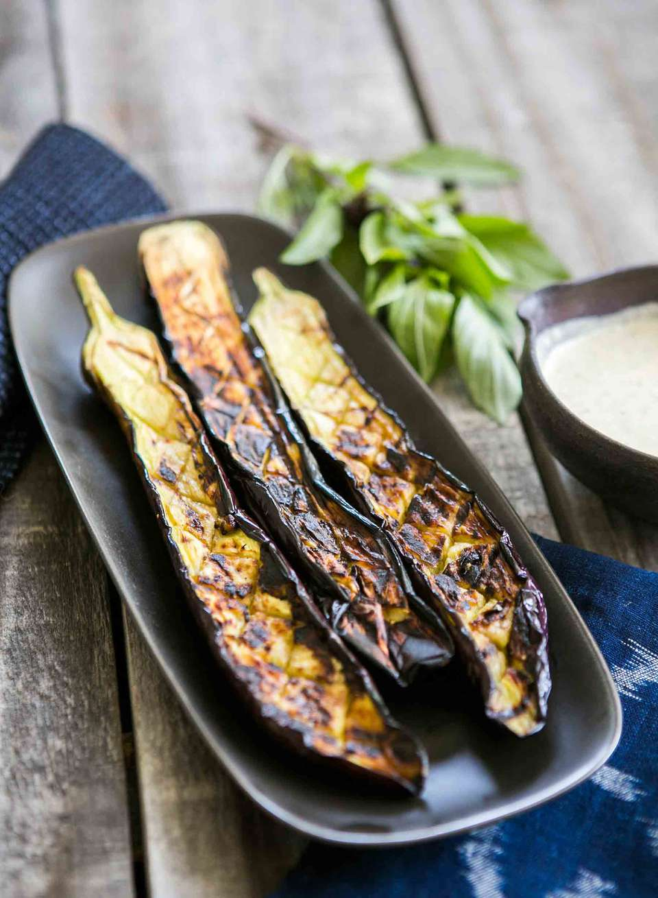 Japanese Eggplant with Tahini Sauce