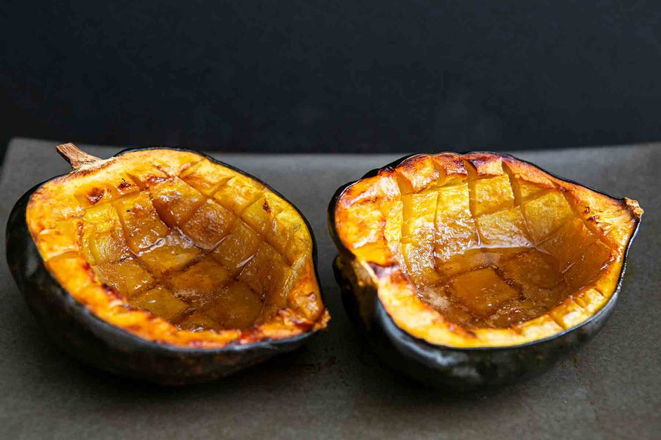 Baked Acorn Squash with Butter and Brown Sugar