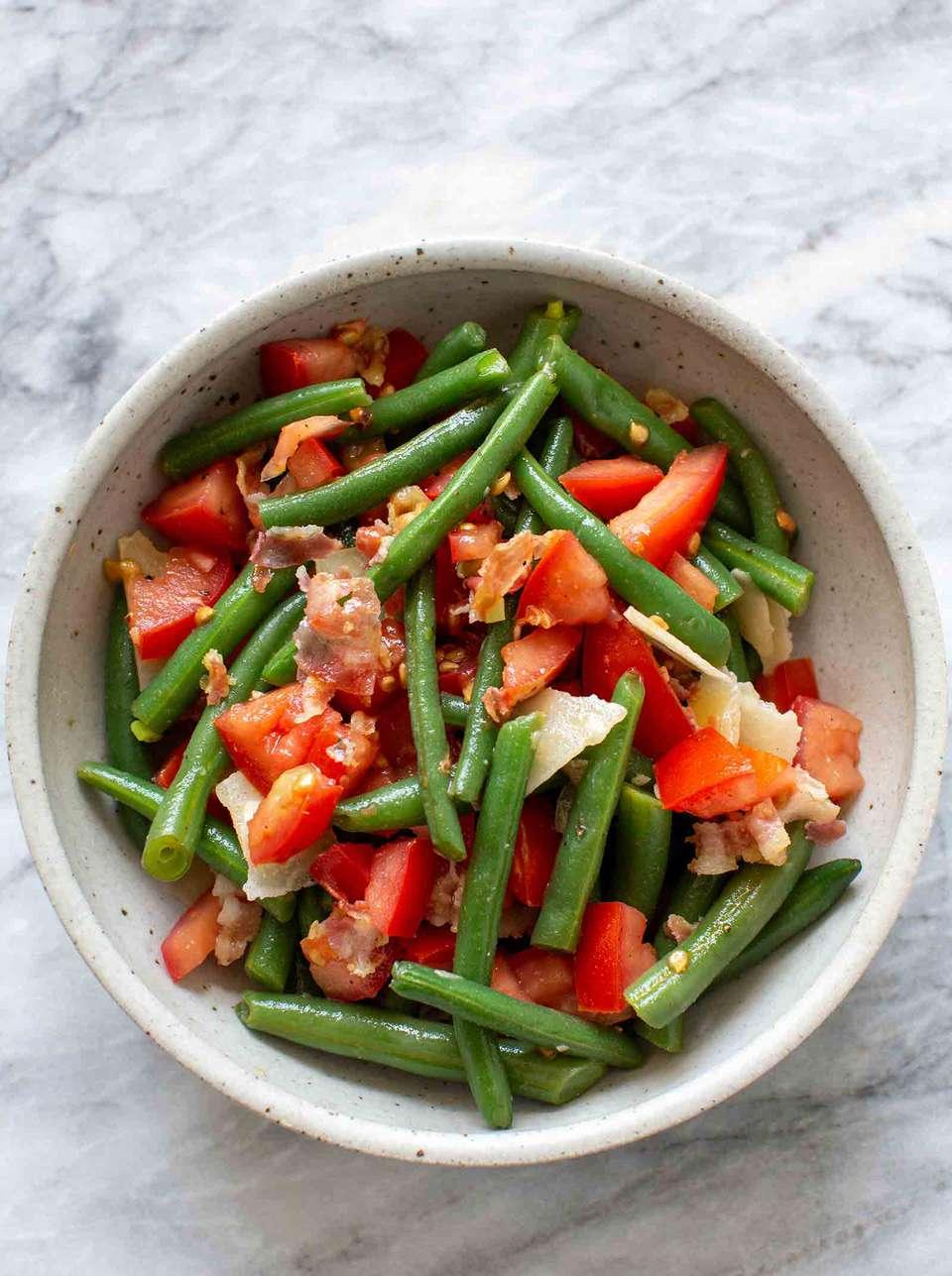 Warm Green Bean and Pancetta Salad