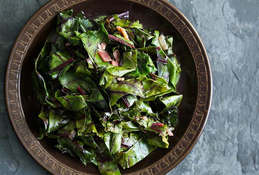 Beet Greens Recipe served in a dish