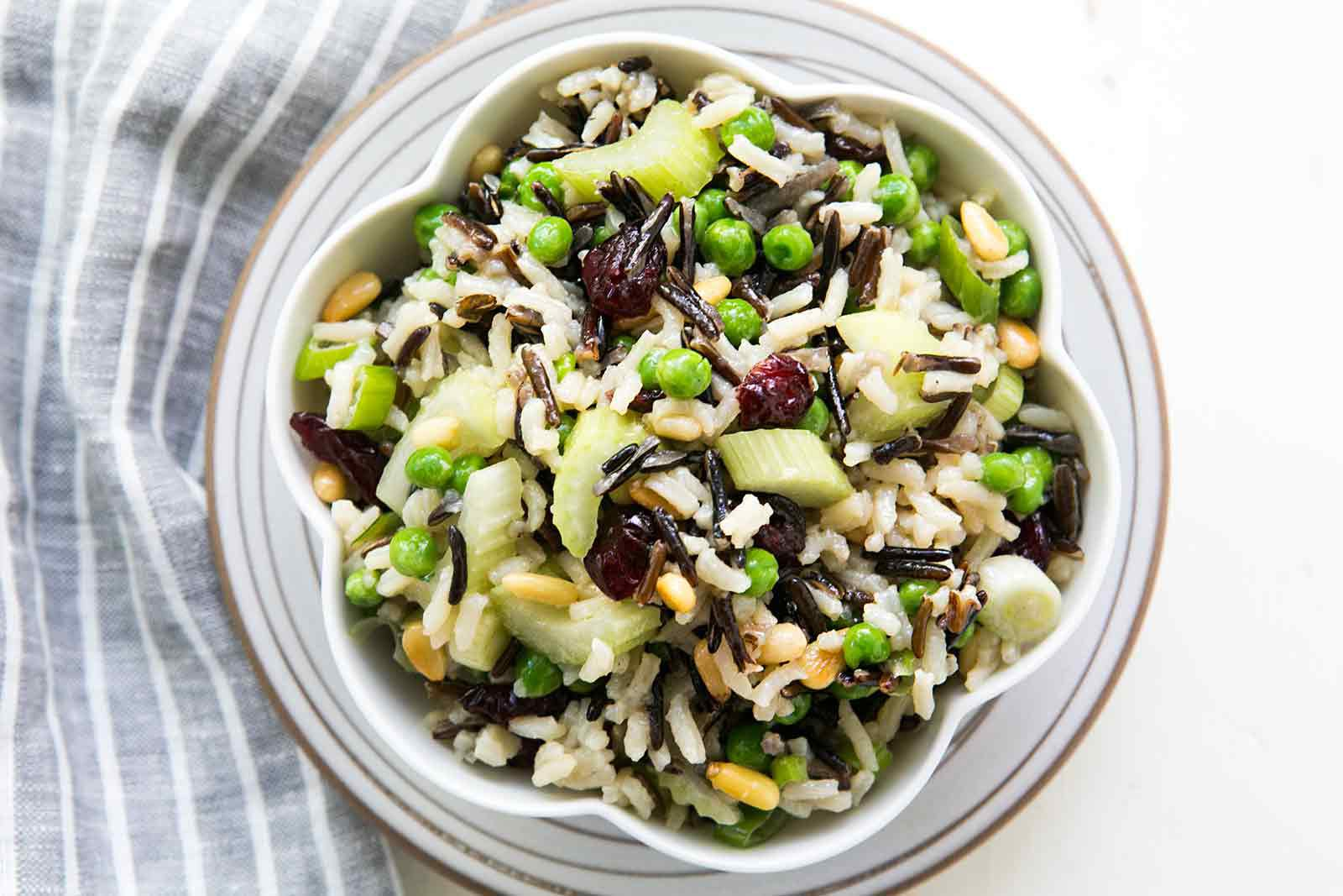 Wild Rice Salad in a bowl.