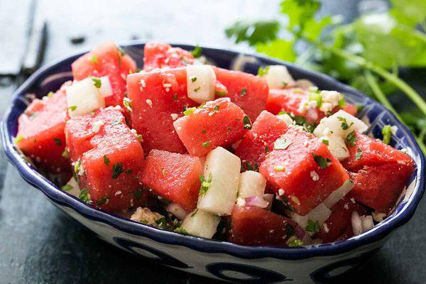 Watermelon Salad with Cotija
