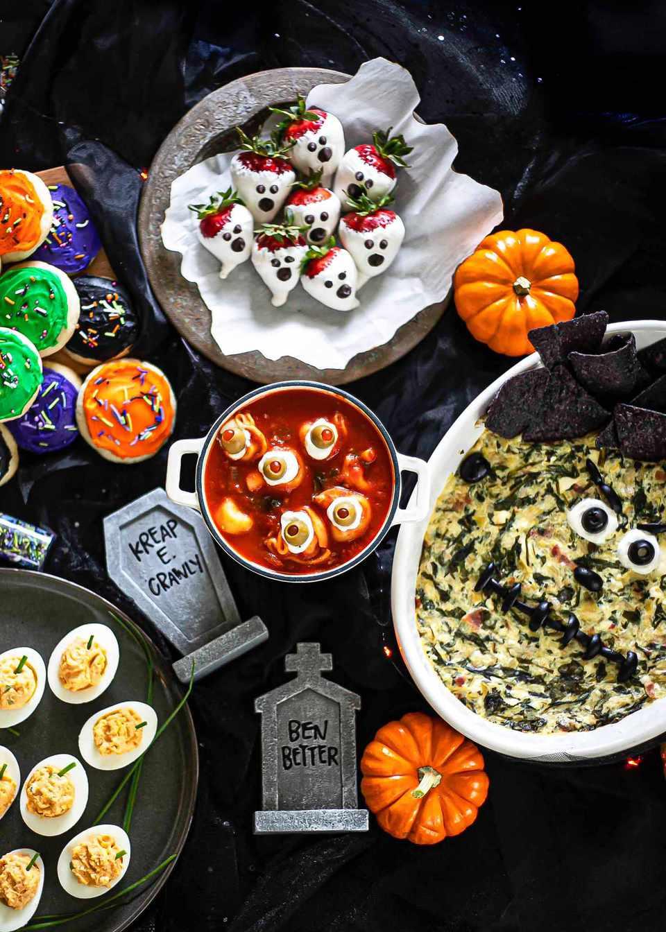 Halloween themed snacks and treats