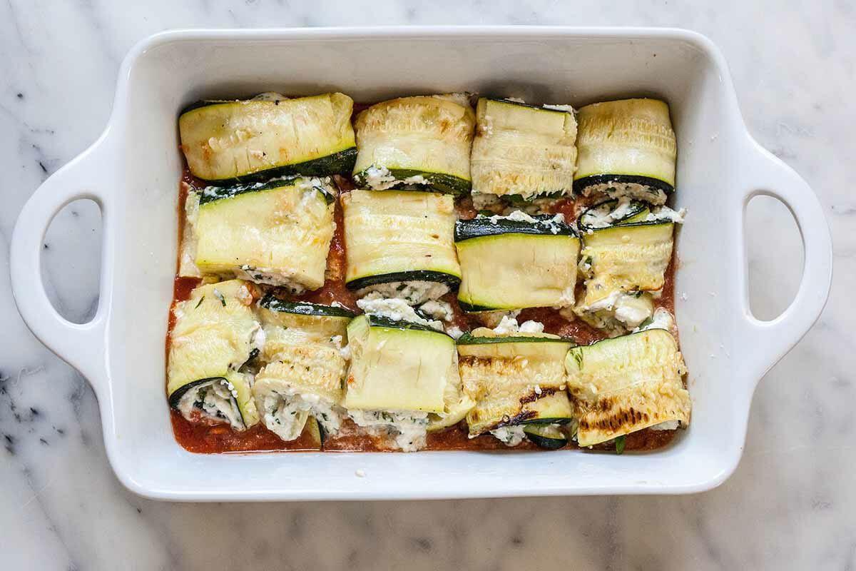 Zucchini Roll-Ups Recipe Vegetarian roll up the zucchini