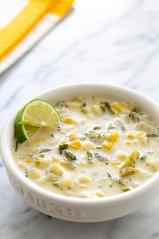 Roasted Corn Poblano Chowder