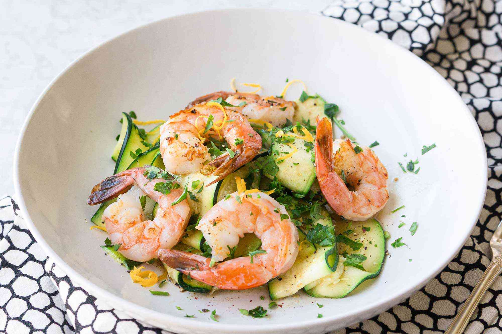 Zucchini Noodles with Shrimp and Lemon-Garlic Butter