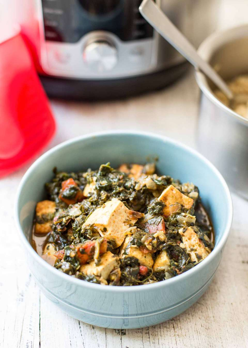 Pressure Cooker Saag Tofu