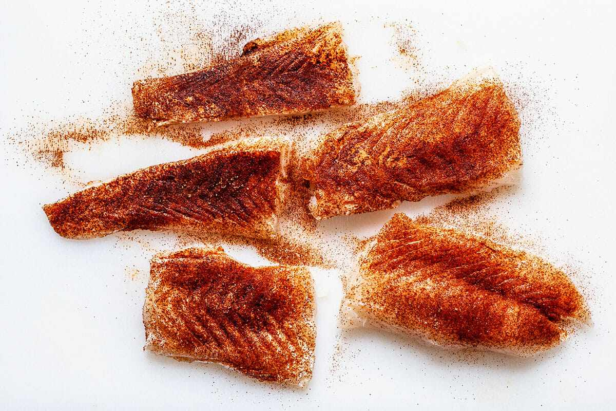 Fillets of the best fish to make fish tacos.