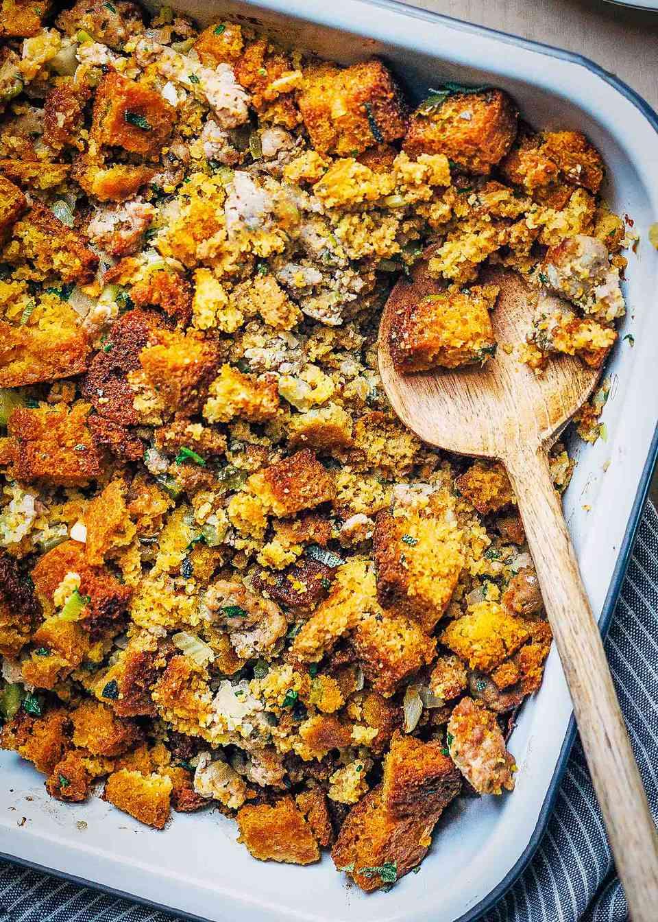 Cornbread, Sausage & Sage Stuffing Recipe