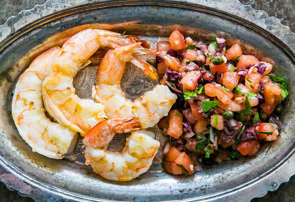 Shrimp with Tomatoes and Olives