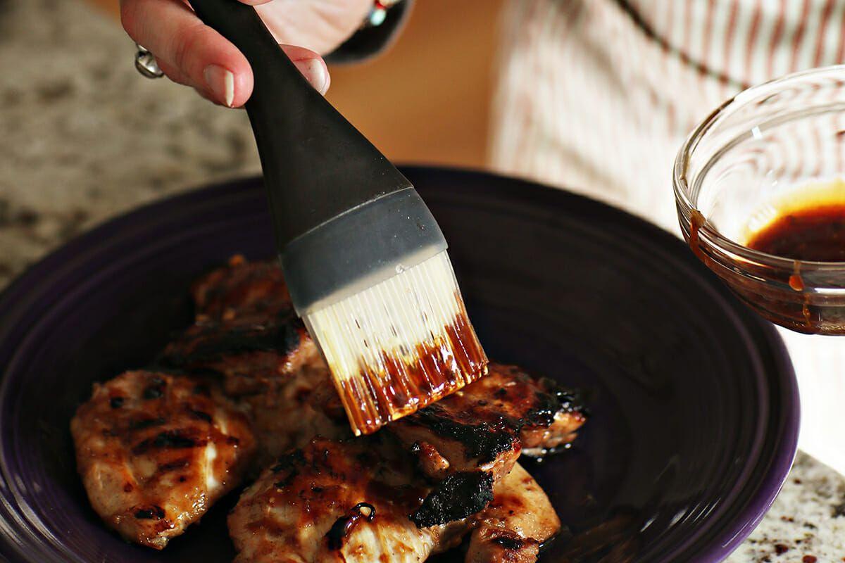 Grilled Char Siu Chicken baste the chicken