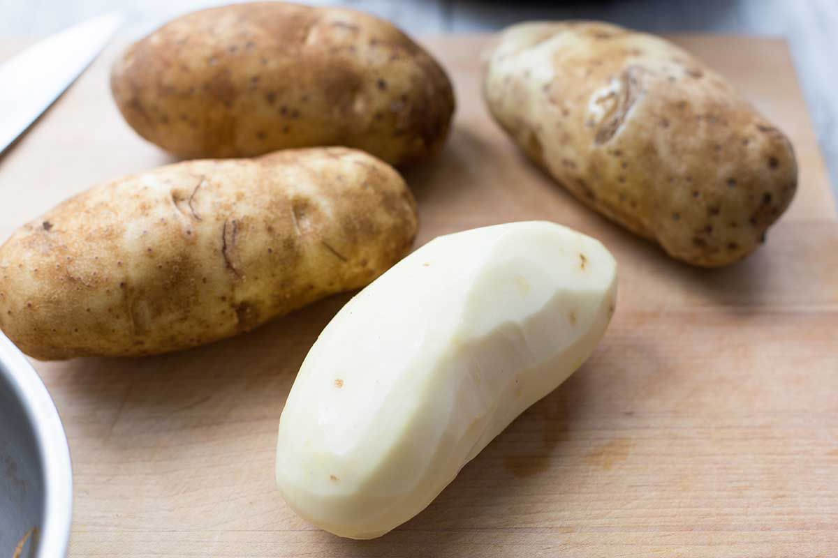 Peeled potatoes for instant pot mashed potatoes