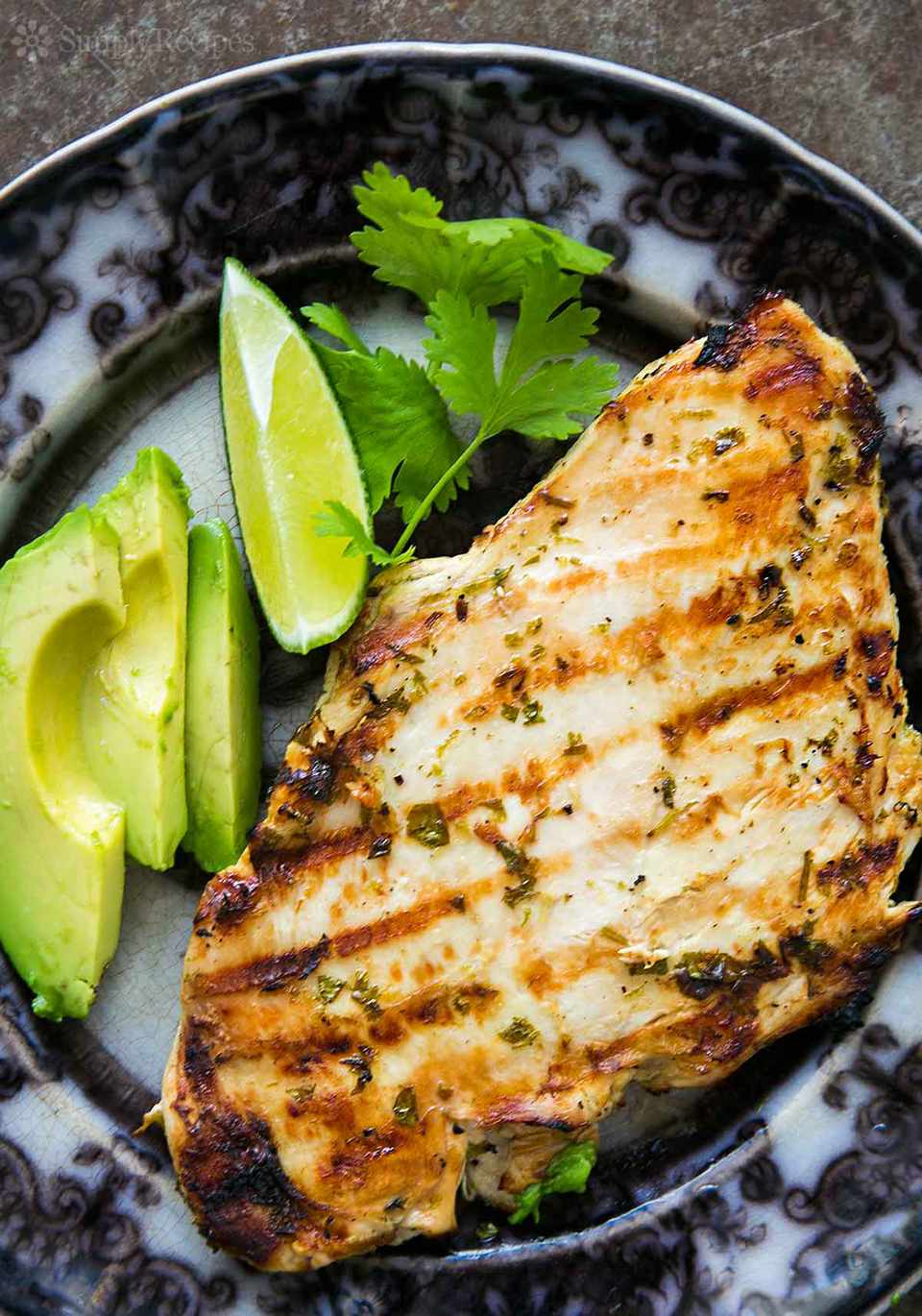 Grilled Cilantro Lime Chicken on plate