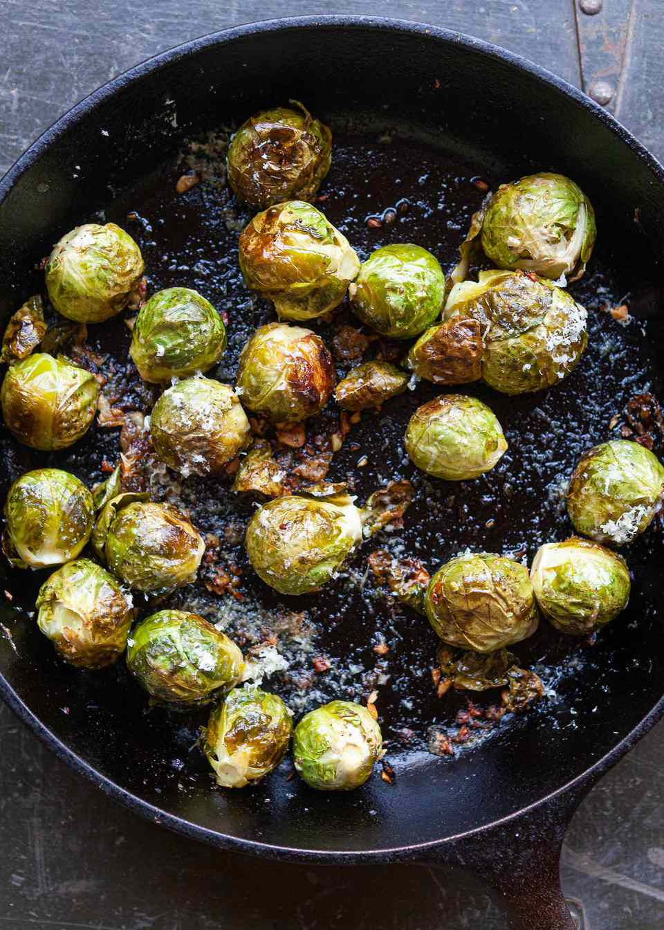 How to roast brussel sprouts in a cast iron skillet