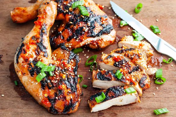 Grilled Chicken with Chili Garlic Sauce